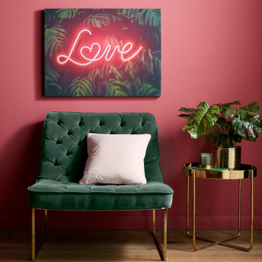 Tropical Neon Love Wall Art, , wallpaperIT