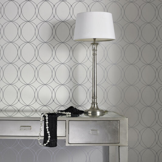 Darcy White and Silver Wallpaper, , wallpaperIT