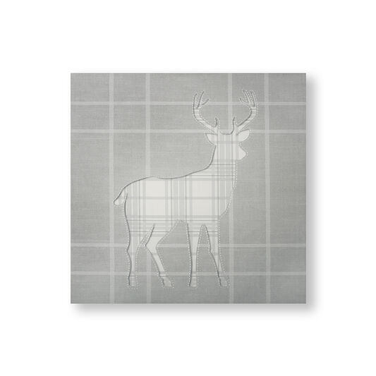 Tartan Stag Silhouette Wall Art, , wallpaperIT