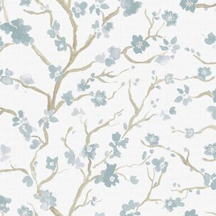 Ushi Green Floral Wallpaper, , wallpaperIT