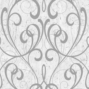 Light Grey & Silver Cork Damask Wallpaper, , wallpaperIT