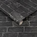 House Brick Charcoal Wallpaper