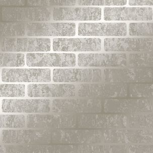 Milan Brick Taupe Wallpaper, , wallpaperIT
