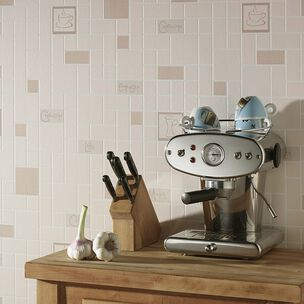 Cafe Culture Beige Wallpaper, , wallpaperIT