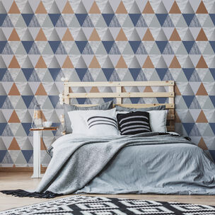 Harlequin Navy & Rose Gold Wallpaper, , wallpaperIT