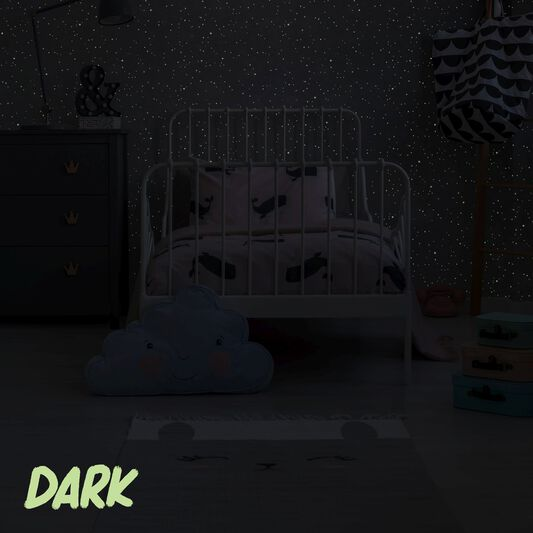 Constellation Grey Glow in the Dark Wallpaper - WallpaperITUK