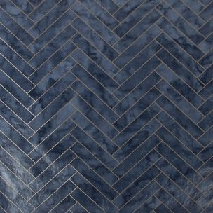 Marble Chevron Tile Navy Wallpaper, , wallpaperIT