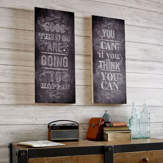 Good Things Print On Wood Wall Art, , wallpaperIT