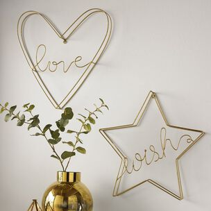Gold Wish Metal Wall Art, , wallpaperIT