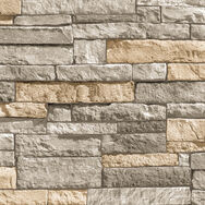 Ledgestone Grey and Terracotta Wallpaper, , wallpaperIT