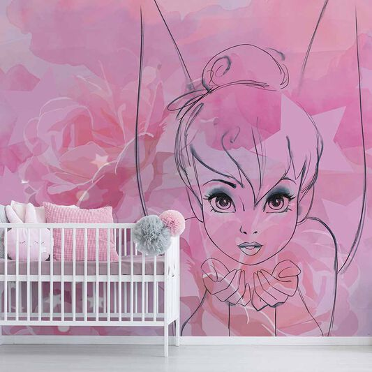 Tinkerbell Watercolour Mural, , wallpaperIT