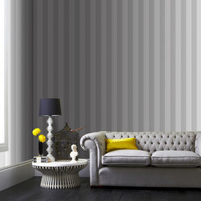 Helen Glitter Stripe Silver & White Wallpaper, , wallpaperIT