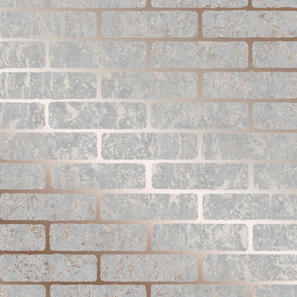 Milan Brick Rose Gold Wallpaper, , wallpaperIT