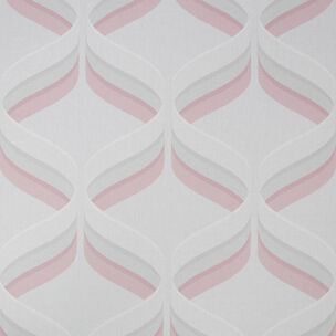 Fresco Retro Ogee Pink Geometric Wallpaper, , wallpaperIT