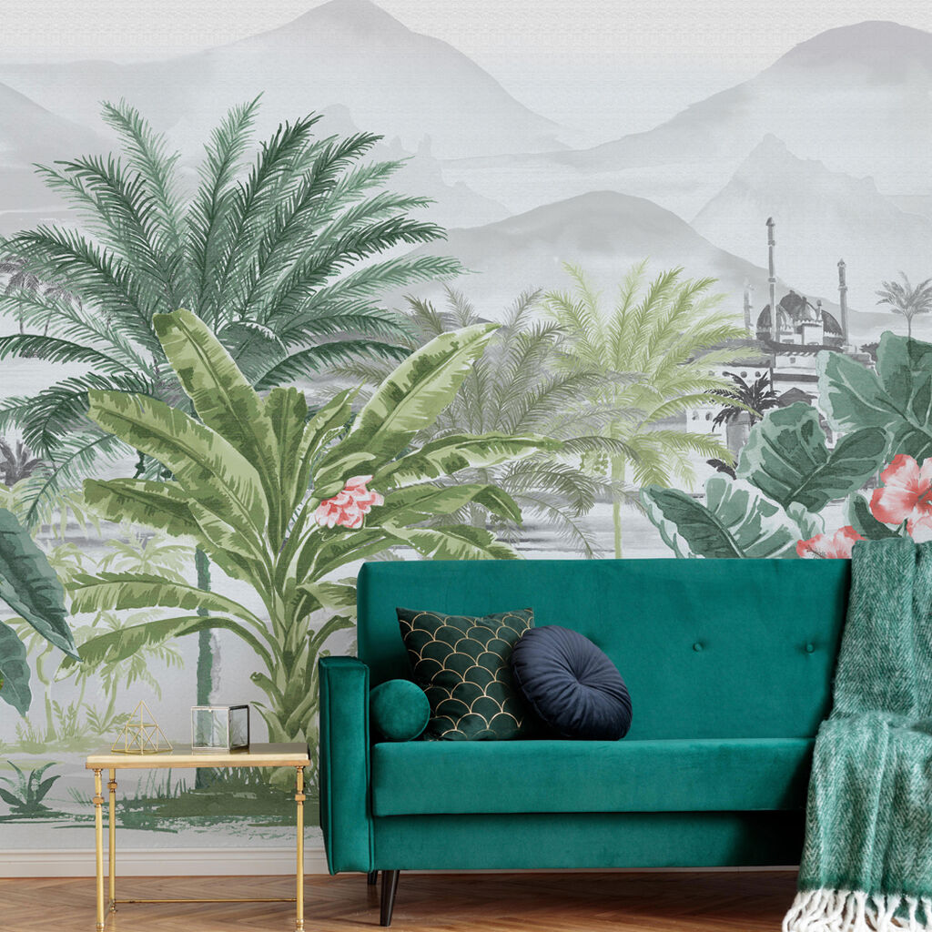 Tropical Forest Wall Mural, , wallpaperIT