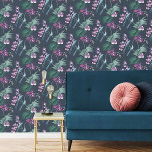 Utopia Navy Wallpaper, , wallpaperIT