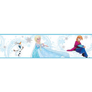 Frozen Anna, Elsa and Olaf Blue Border, , wallpaperIT