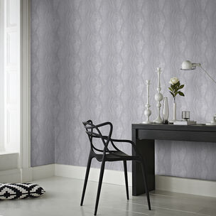 Vermeil Stripe Silver Wallpaper, , wallpaperIT