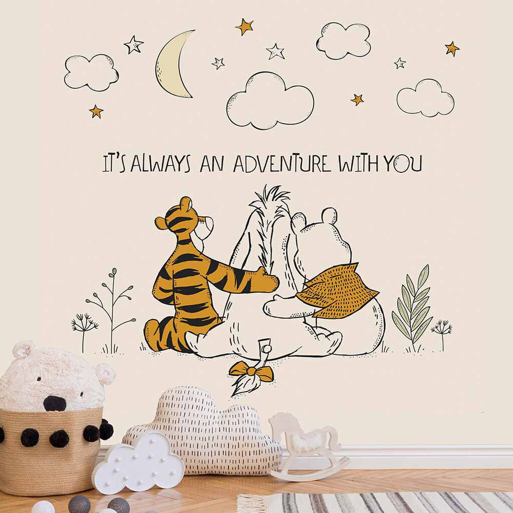 Winnie The Pooh Friends Forever Mural, , wallpaperIT