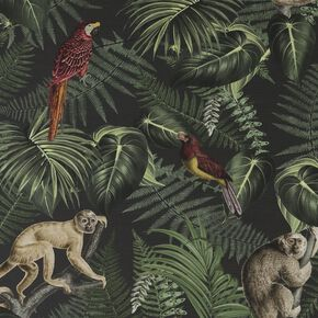 Into The Jungle Black Wallpaper, , wallpaperIT