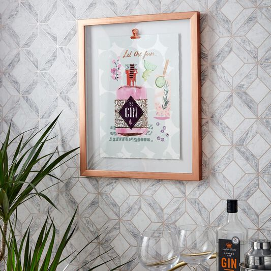 Let The Fun Be Gin Framed Print, , wallpaperIT
