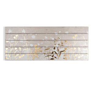 Metallic Meadow Print On Wood Wall Art, , wallpaperIT