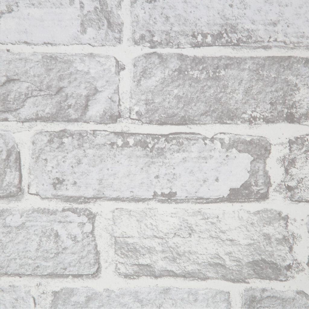 Fresco White Brick Wallpaper, , wallpaperIT