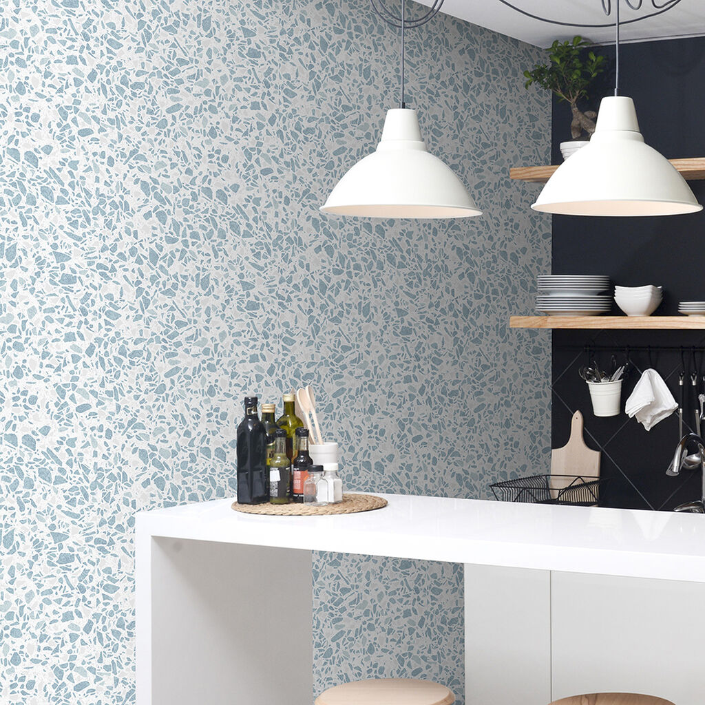 Granito Blue Wallpaper Blue Wallpaper Contour
