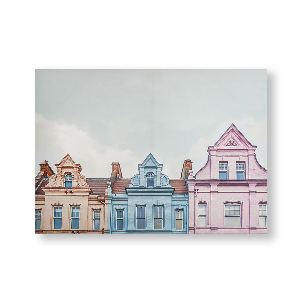 Pretty Pastel Skyline Printed Canvas Wall Art, , wallpaperIT