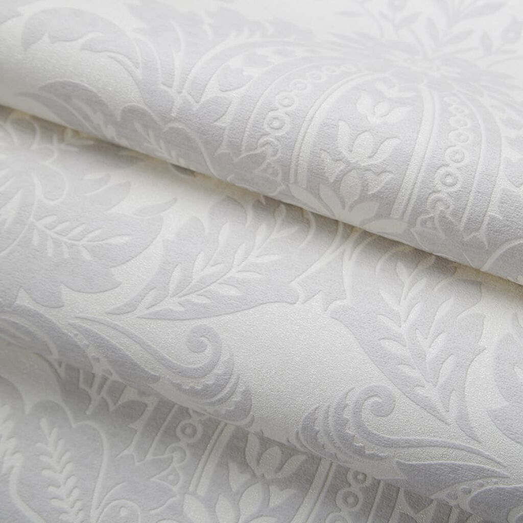 Venetian Damask White Wallpaper, , wallpaperIT