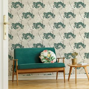 Lykke Tree Dark Green Wallpaper, , wallpaperIT