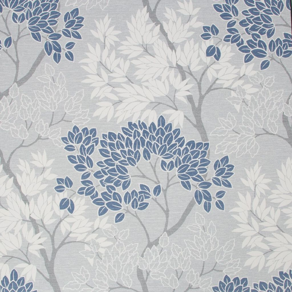 Fresco Lykke Tree Navy Floral Wallpaper Blue Wallpaper Fresco