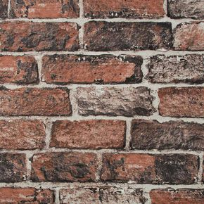 Fresco Red Brick Wallpaper, , wallpaperIT