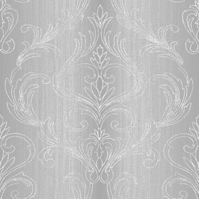 Valentino Damask Silver Wallpaper, , wallpaperIT