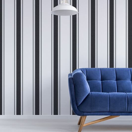 Orla Grey and Silver Wallpaper, , wallpaperIT