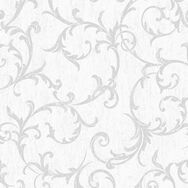 Empress Scroll Silver Wallpaper, , wallpaperIT