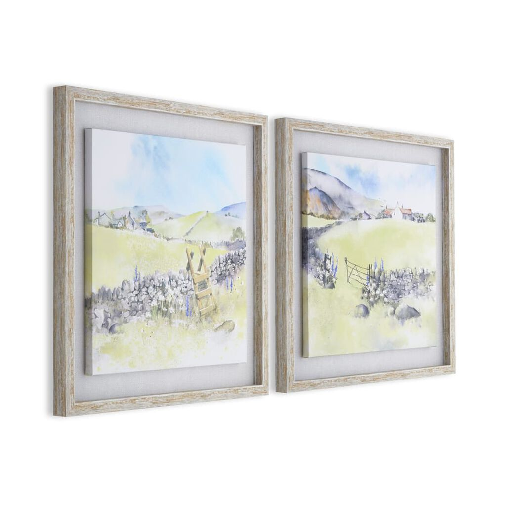 Country Meadow Framed Floating Canvas, , wallpaperIT