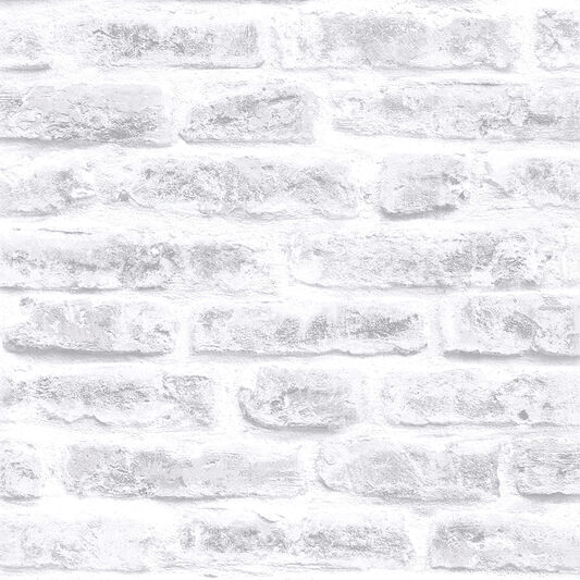 White Realistic Brick Wallpaper, , wallpaperIT