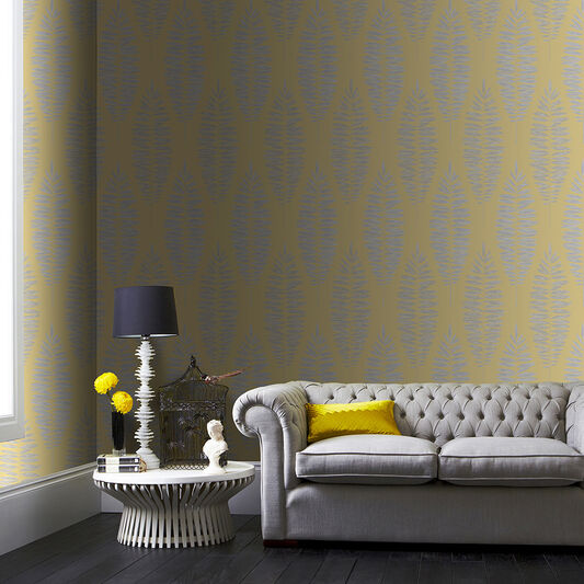 Lucia Yellow Wallpaper, , wallpaperIT