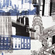 Fresco New York Wallpaper, , wallpaperIT