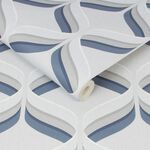 Fresco Retro Ogee Navy Geometric Wallpaper