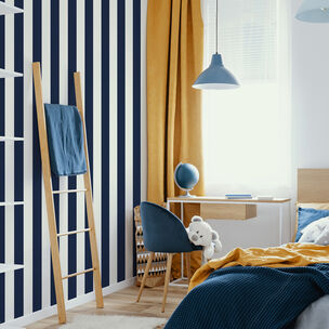 Navy Stripe Wallpaper, , wallpaperIT