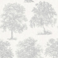 Enchanted Tree Silver Wallpaper, , wallpaperIT