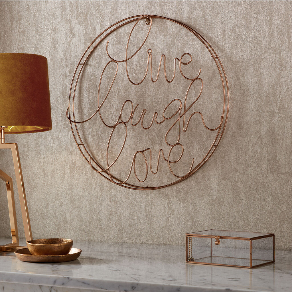 Live Laugh Love Metal Wall Art, , wallpaperIT