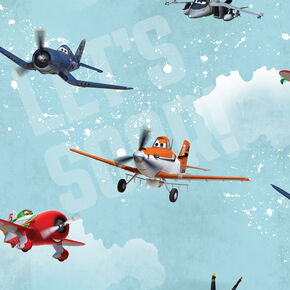 Planes Multi-coloured Wallpaper, , wallpaperIT