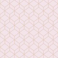 Myrtle Geo Blush & Rose Gold Wallpaper, , wallpaperIT