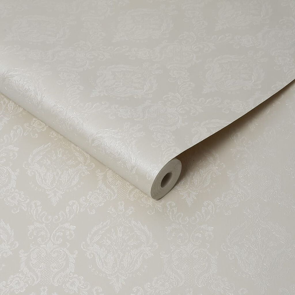 Damask Cream Shimmer Wallpaper, , wallpaperIT