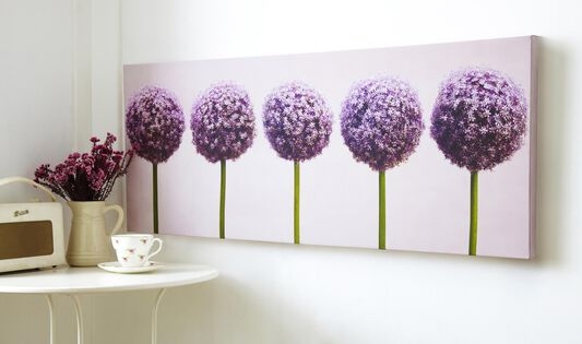 Row Of Alliums Printed Canvas Wall Art, , wallpaperIT