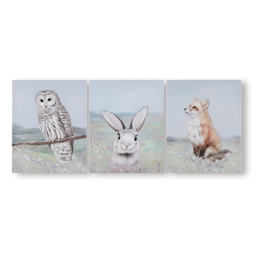 Spring Meadow Animals Canvases, , wallpaperIT