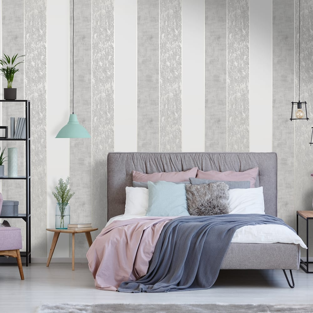 Milan Stripe Taupe Wallpaper, , wallpaperIT